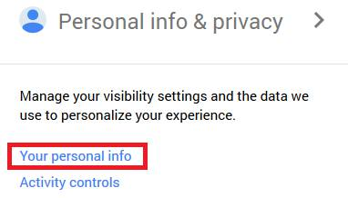 your-personal-info