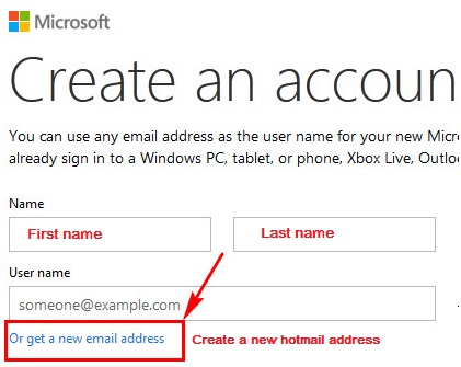 hotmail sign up for new account email