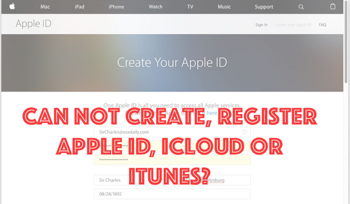 how to create itunes id