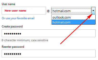 username-hotmail
