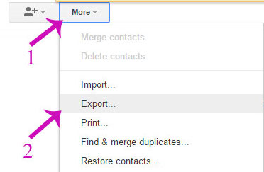 Gmail-export